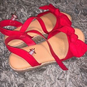 Shoes - red espadrilles